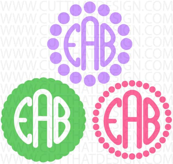 Free polka dot monogram svg files