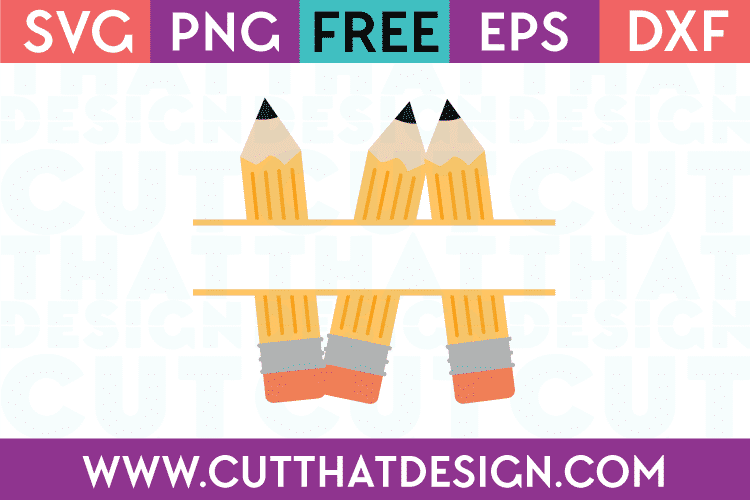 free pencil monogram svg