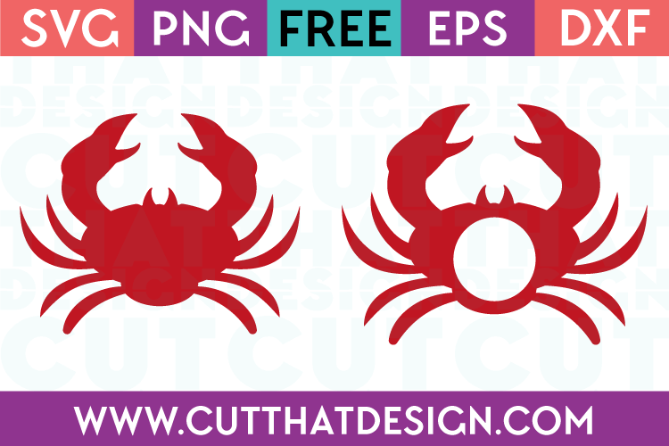 crab silhouette and monogram designs free svg files from cut that