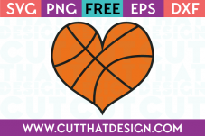 heart shaped basketball svg