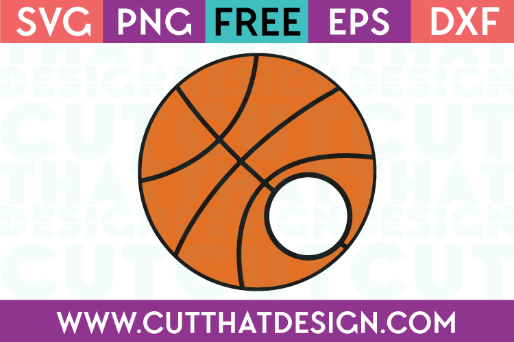 Basketball monogram cut file