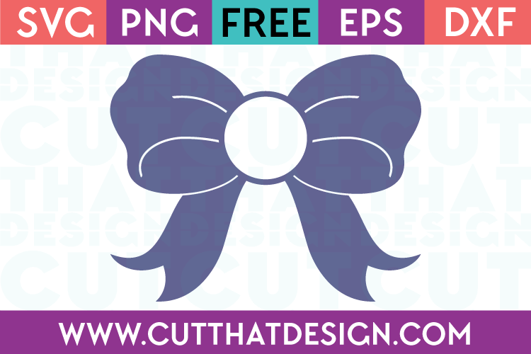 bow monogram svg free