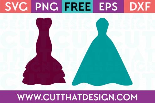 Cut That Design Wedding Dress Set SVG