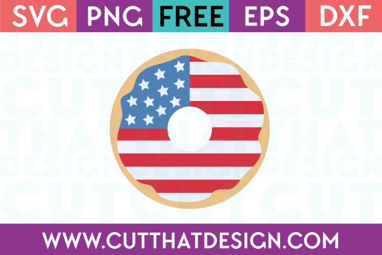 Free SVG Files Patriotic Doughnut Design 4