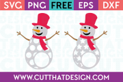 Free SVG Files Patterned Snowman Polka Dot and Star