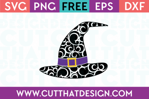 Free SVG Files Flourish Witch Hat Design