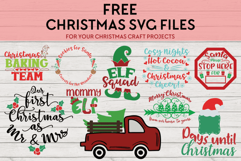 Our Favorite Free Christmas Craft Cutting Files