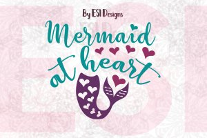Mermaid at Heart SVG