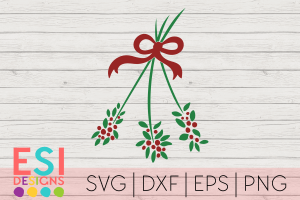 Mistletoe SVG Cut File