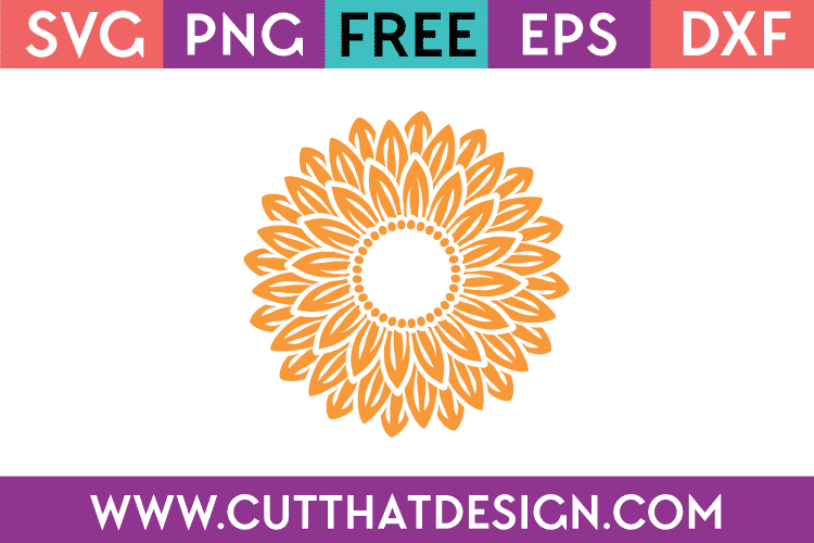 Free SVG Files Sunflower Monogram