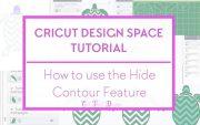 Contour feature cricut design space