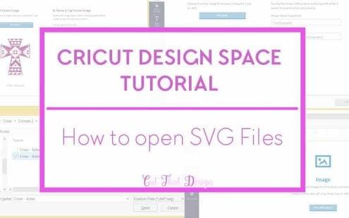 Import files in to cricut design space