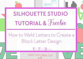 Weld tool in silhouette studio and free svg cut file