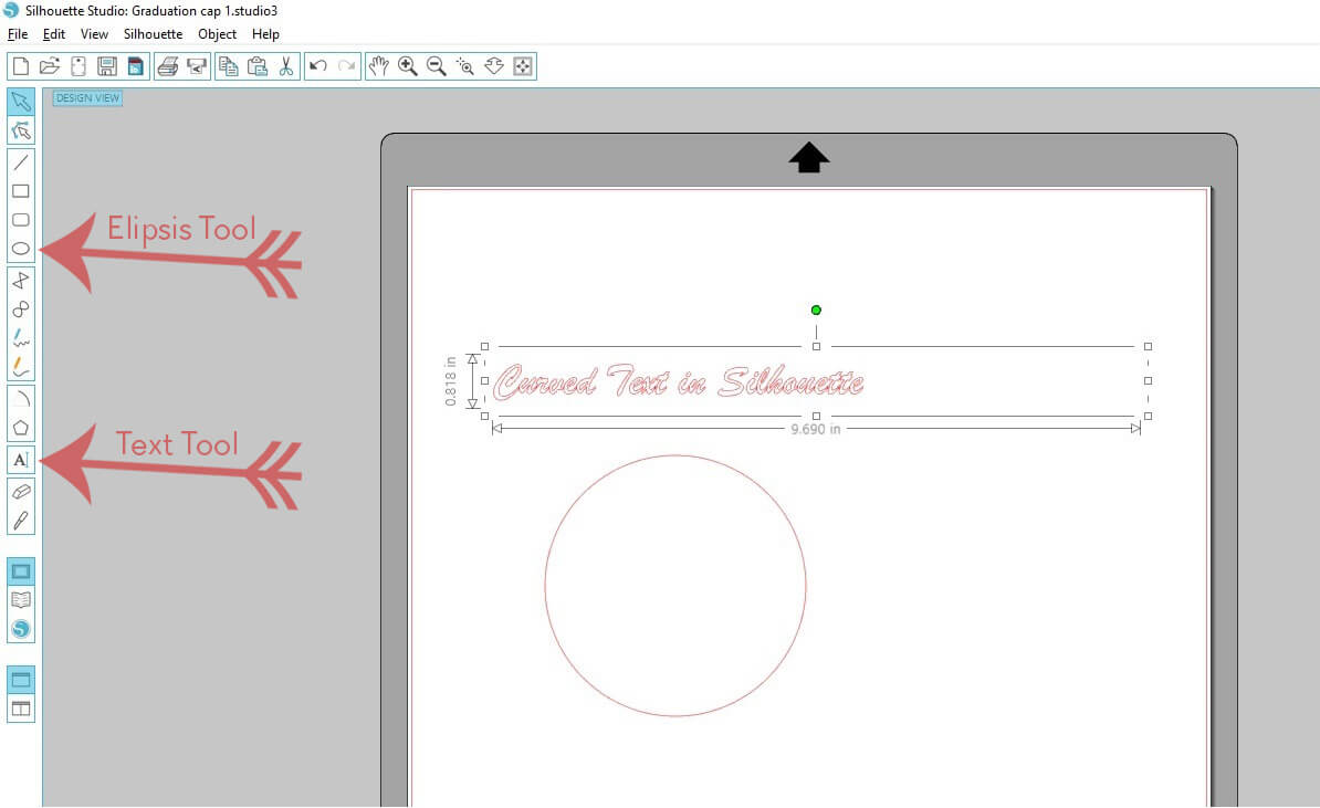 How to Make Curved Text in Silhouette - Step 1