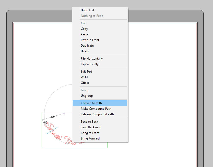 Curve text in silhouette