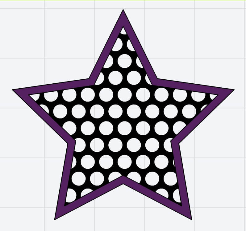 14, Place new star outline on top of polka dot