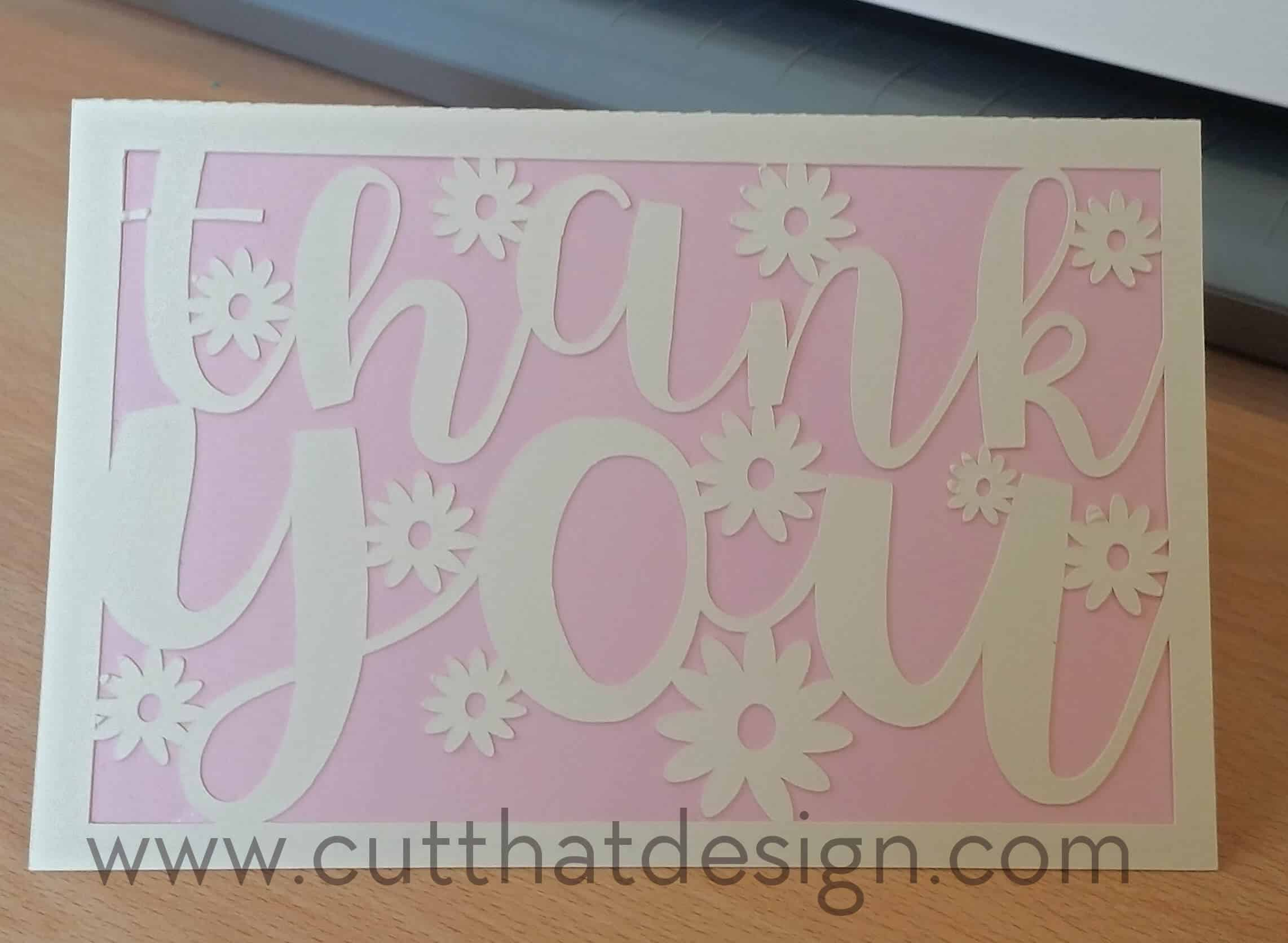 create a thank you card in silhouette studio  free svg