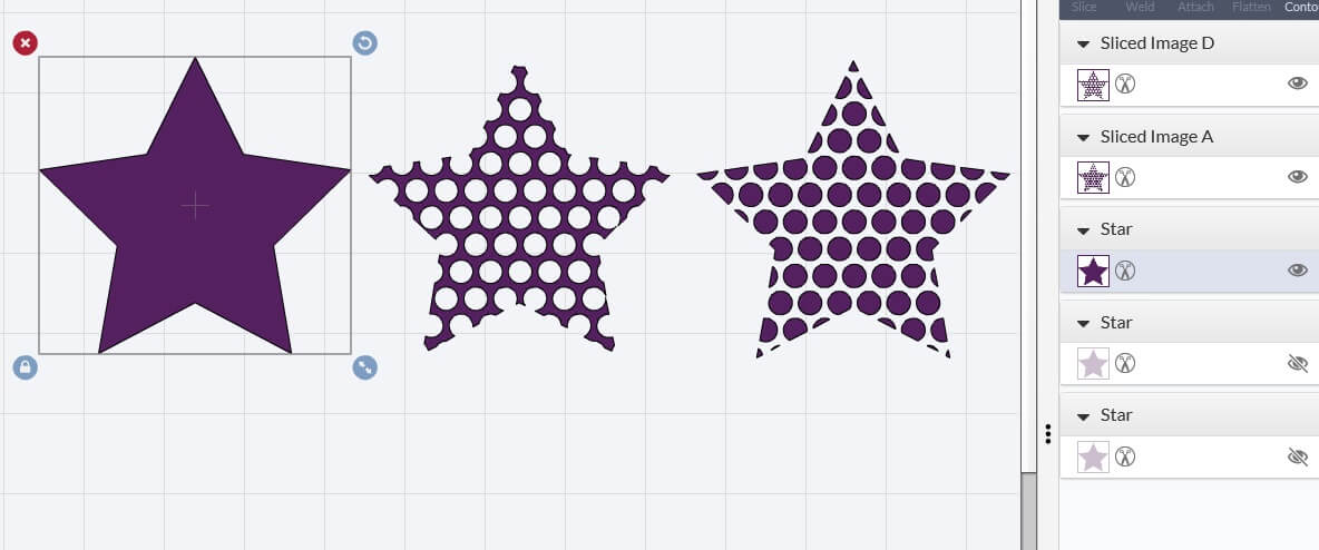 Slice And Weld A Pattern Into A Shape In Cricut Design
