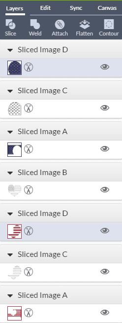 how to use the slice tool cricut explore