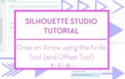Knife tool and offset tool in Silhouette Studio