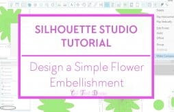 Silhouette Studio flower design tutorial