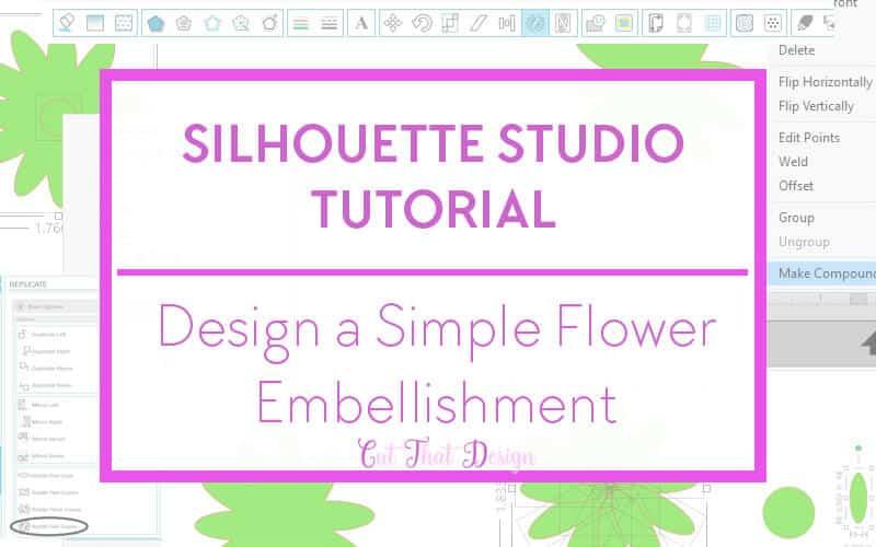 Silhouette Studio flower design tutorial