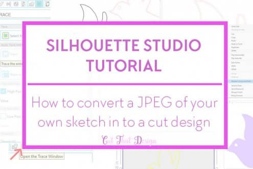 Trace a JPEG image in Silhouette Studio