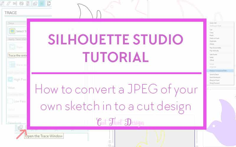 Trace a JPEG image in Silhouette Studio