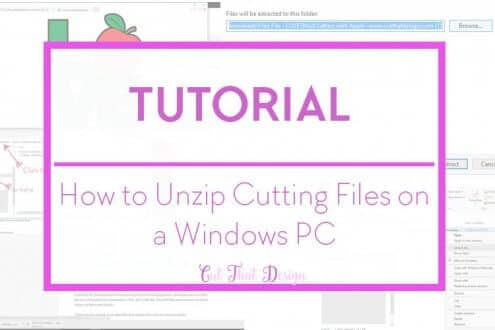 Unzipping files in windows 10