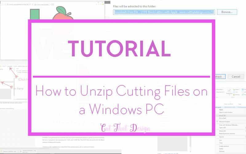Unzipping files in windows 10