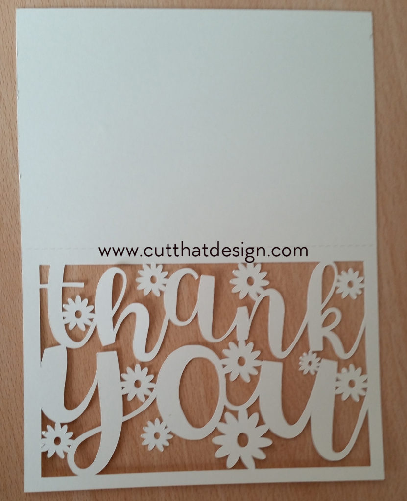 Photo - Thank you card cut out