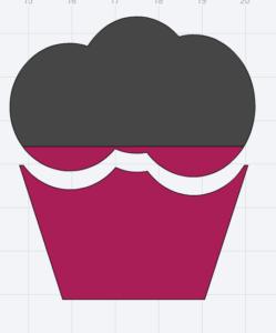 Free SVG cutting file cupcake