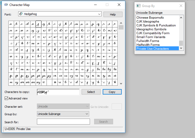 9, Silhouette Studio - Select glyphs from character map