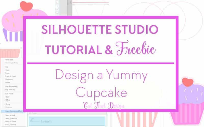 Silhouette tutorial cupcake free svg cutting file