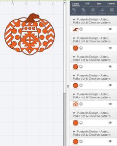 Split design in Cricut Design space