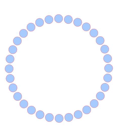 Free polka dot monogram frame