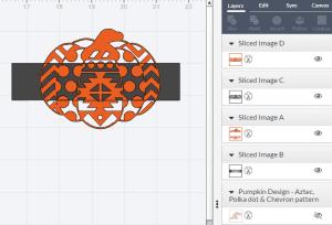 Slice tool in cricut Design Space