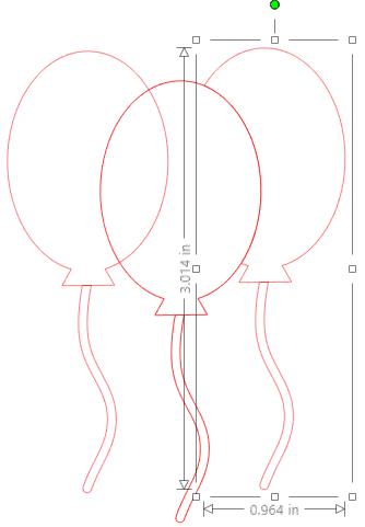 draw a balloon in silhouette studio