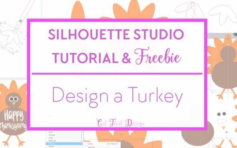 Turkey, thanksgiving silhouete cameo tutorial and free svg