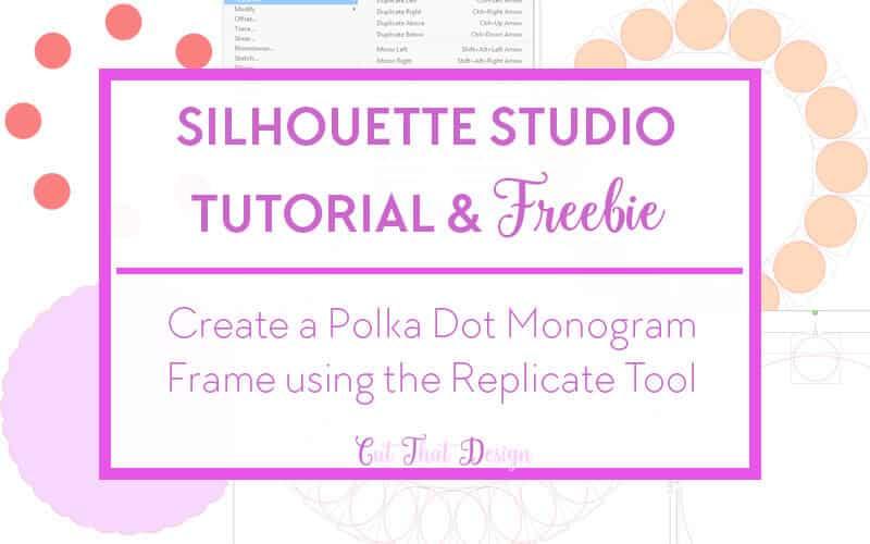 Polka dot Monogram Frame svg cutting file