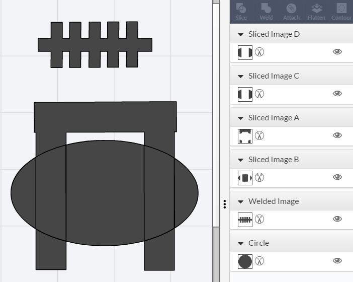 Weld tool in Cricut Design Space