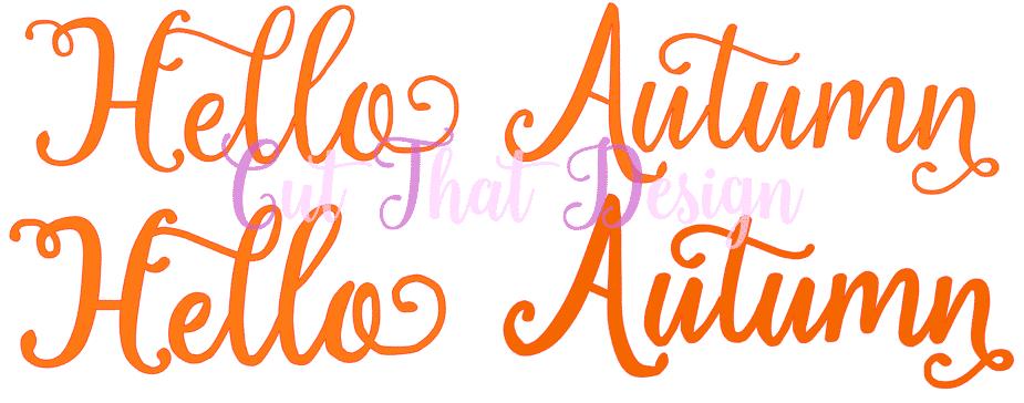 Free Svg Files Design A Hello Autumn Tag In Silhouette Studio Free Svg Dxf File Cut That Design