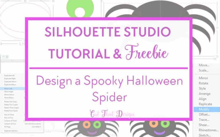 Design a Spooky Halloween Spider in Silhouette Studio + Free SVG & DXF File