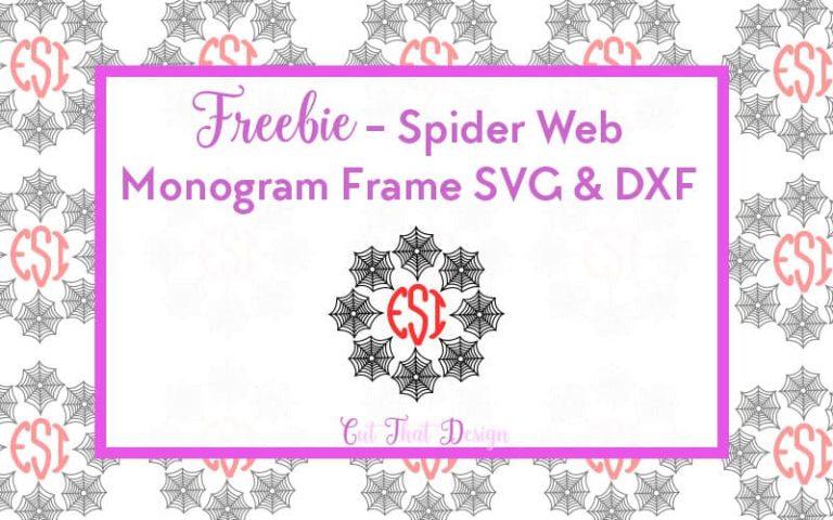 I'm Back! Free Spider Web SVG File