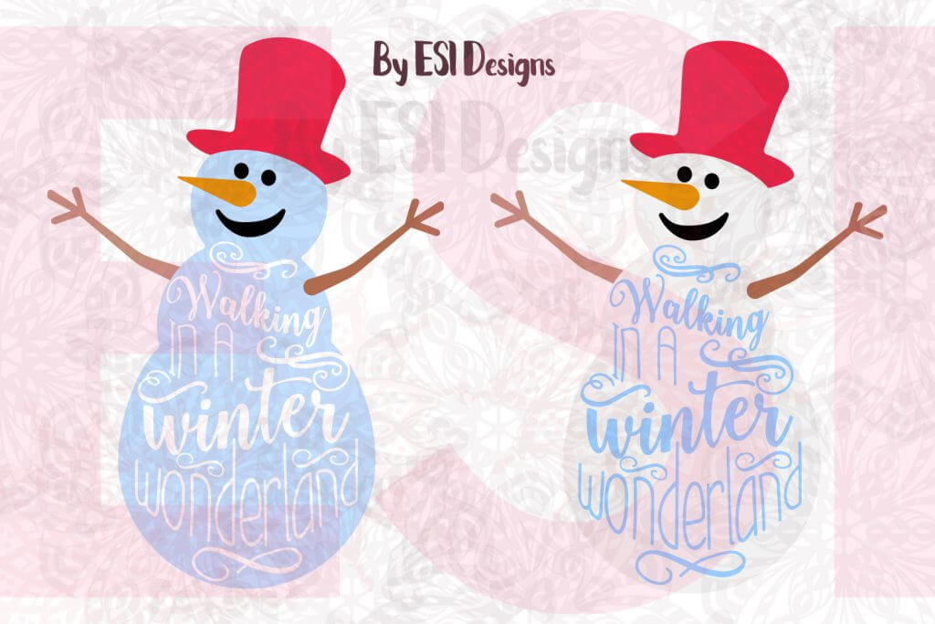 snowman svg cutting file