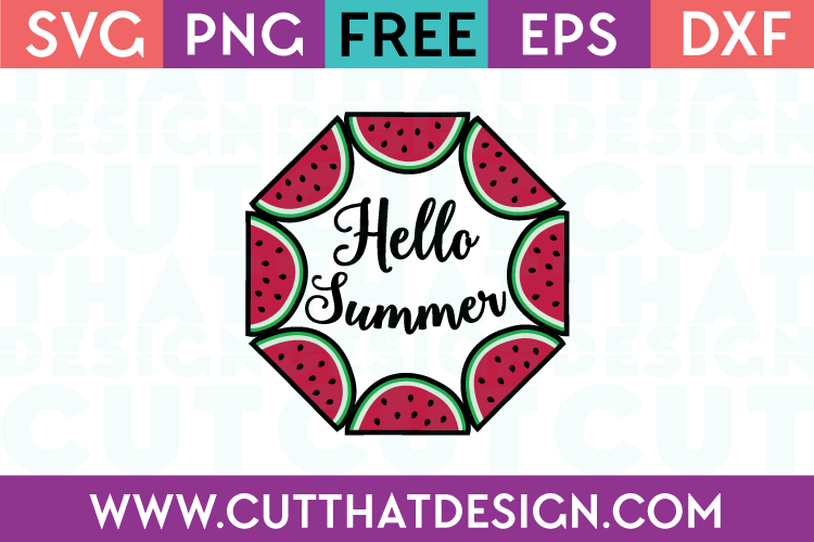 Free SVG Cutting Files for Summer