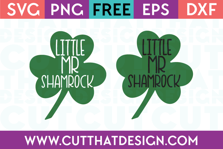 Free Little Mr Shamrock SVG File