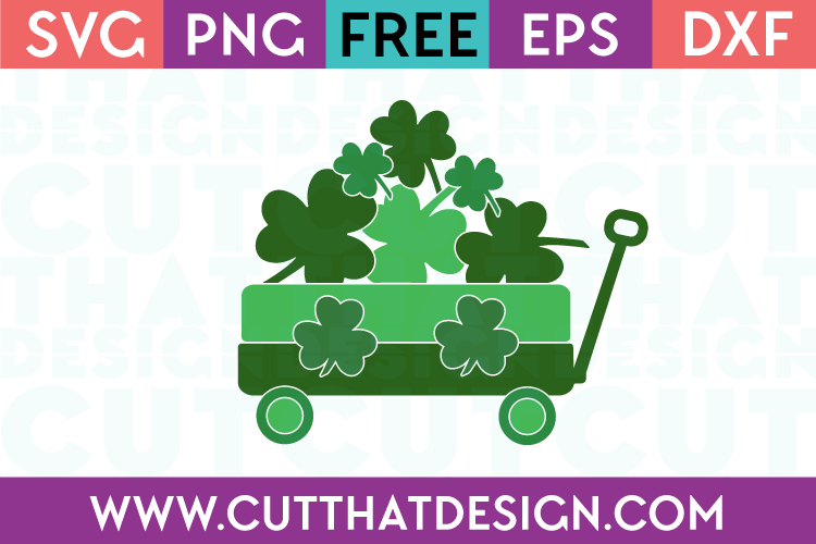 Free St Patricks Day SVG Little Wagon