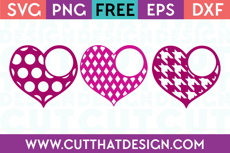 Patterned Heart Monogram Designs 2 Cut That Design