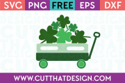 St Patricks Day Little Wagon Design 2 Free SVG